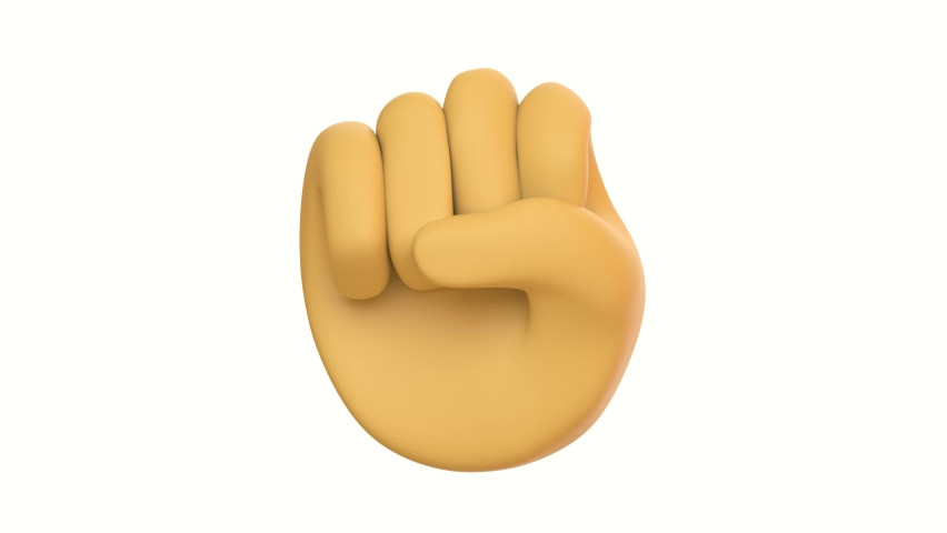 Hand Fist isolated, woman rights, protest, conflict or winner concept, Girl power creative banner. revolution and protest concept, demanding crowd, 3d render illustration. iphone emoji | Shutterstock HD Video #1058573545