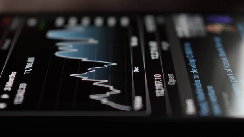 Stock Exchange, Trading Online, Trader Working With Smartphone on Stock Market Trading Floor. Man Touch Screen Reading Financial News, Browse Foreign Exchange Market Data, Chart Forex. Crypto currency Royalty-Free Stock Footage #1058602393