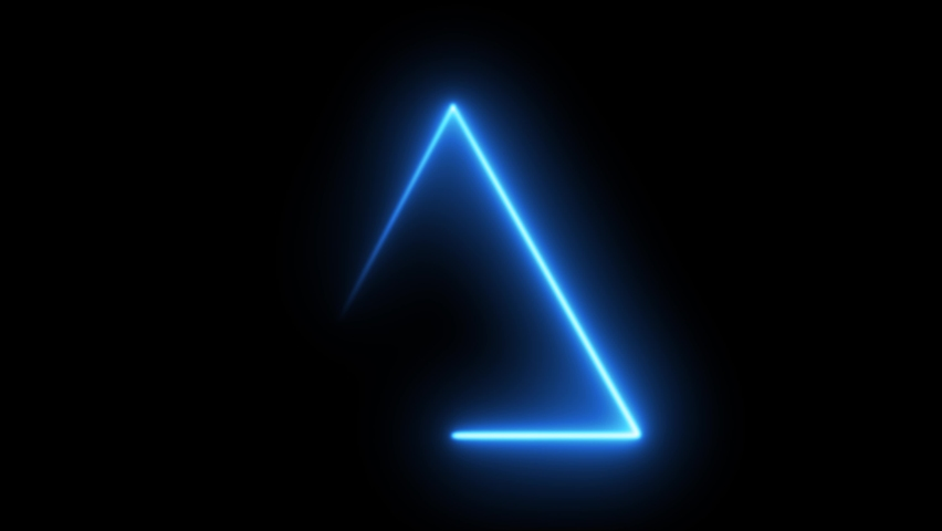 Neon blue electric light banner frame banner triangle banner Neon background frame background triangle led Neon blue frame triangle led Neon  frame electric laser led light glowing triangle animation Royalty-Free Stock Footage #1058665921