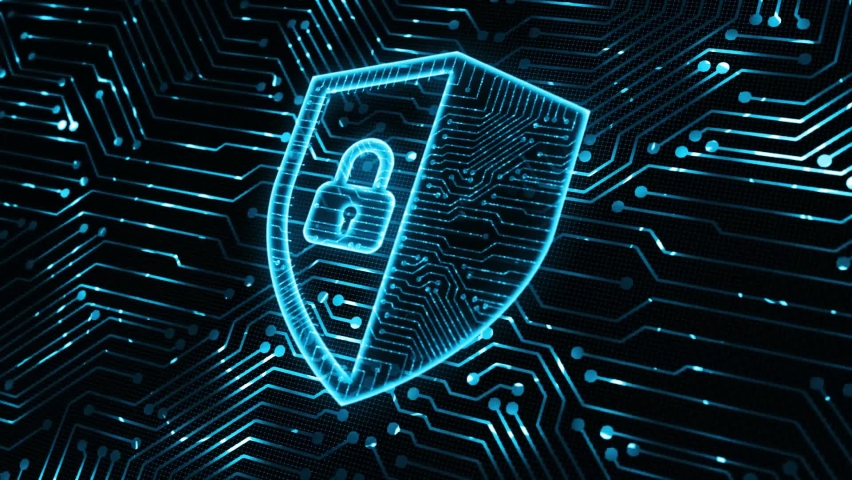 Cyber security data protection business technology privacy concept.  Royalty-Free Stock Footage #1058743558