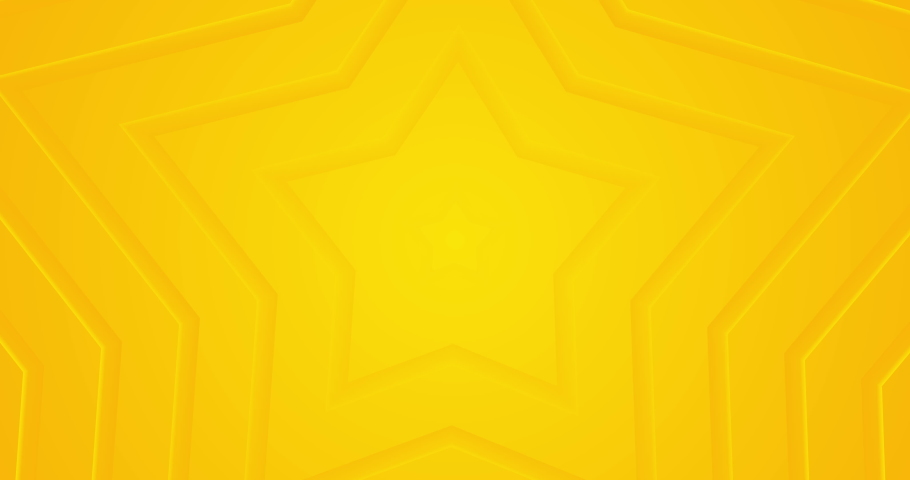 Light sunny yellow looped gradient abstract background. Minimal animation for presentation, event, party text backdrop. Animated 5 star business rating. Endless pure transition. Moving cartoon lines.
