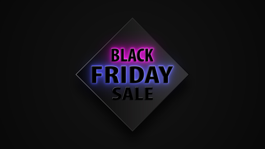 Black Friday 4K. (Premium and Luxury  Banner) Sign and symbols neon sign concept. For Black Friday sale 2020 Version.