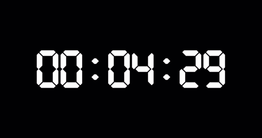 30 seconds countdown timer of led electronic white digits on black background | Shutterstock HD Video #1058890003