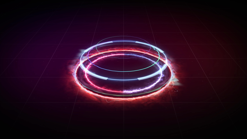 Music equalizer ring fire, for music party | Shutterstock HD Video #1058936138
