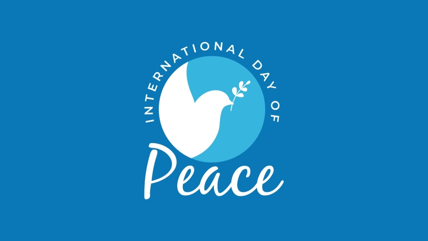 Motion graphic design for celebrating international day of peace. happy world peace day greeting. Animated video Royalty-Free Stock Footage #1058979785