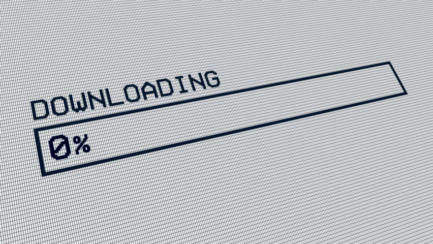 Download bar on computer screen. Pixelated animation of progress bar.  Royalty-Free Stock Footage #1058981240