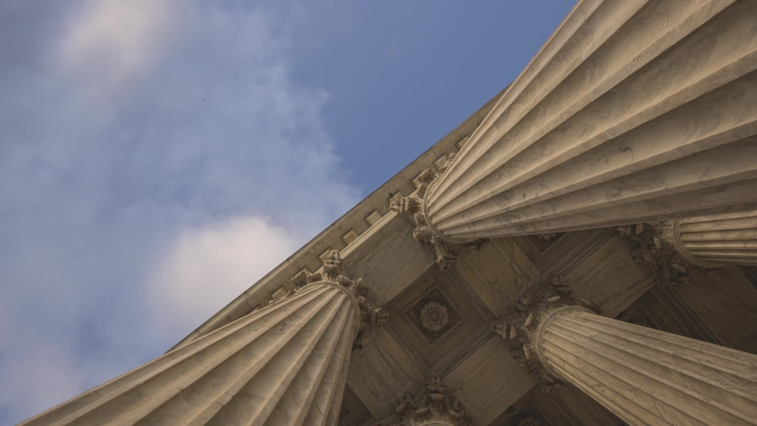 4K Time-lapse of clouds at the Supreme Court Building Washington DC