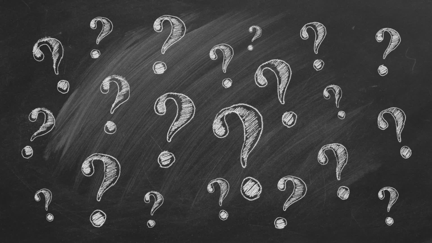 Question marks on blackboard Ask for help. FAQ concept.  Asking questions.  | Shutterstock HD Video #1059063659