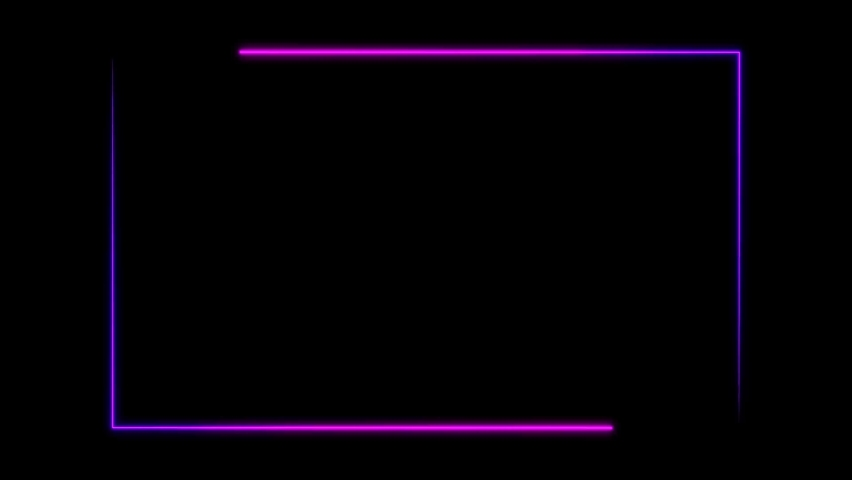 Abstract seamless background yellow purple spectrum looped animation ultraviolet light 4k glowing neon line. materials. Abstract light neon frame on black background. laser show of looped animation.    Shutterstock HD Video #1059063875