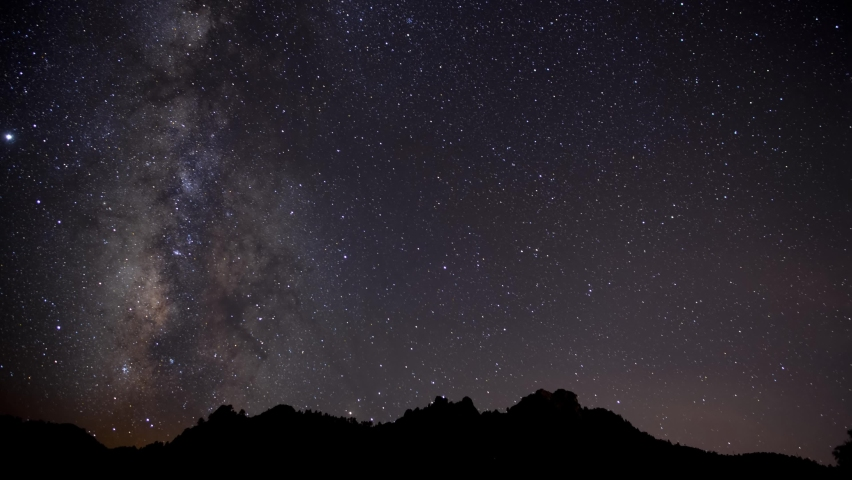 Time lapse of Milky Way stars over jagged desert mountains   Shutterstock HD Video #1059074198