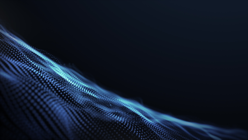 Abstract digital particle wave and light abstract background ,animation cyber or technology background. | Shutterstock HD Video #1059077003