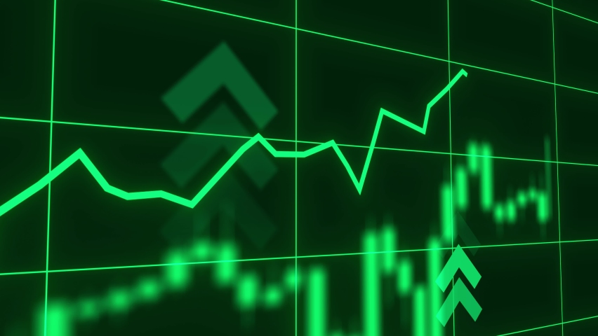 Stock market or forex trading candlestick graph in graphic design for financial investment concept. Financial data and diagrams showing a steady increase in profits. Bitcoin btc and cryptocurrency Royalty-Free Stock Footage #1059083501