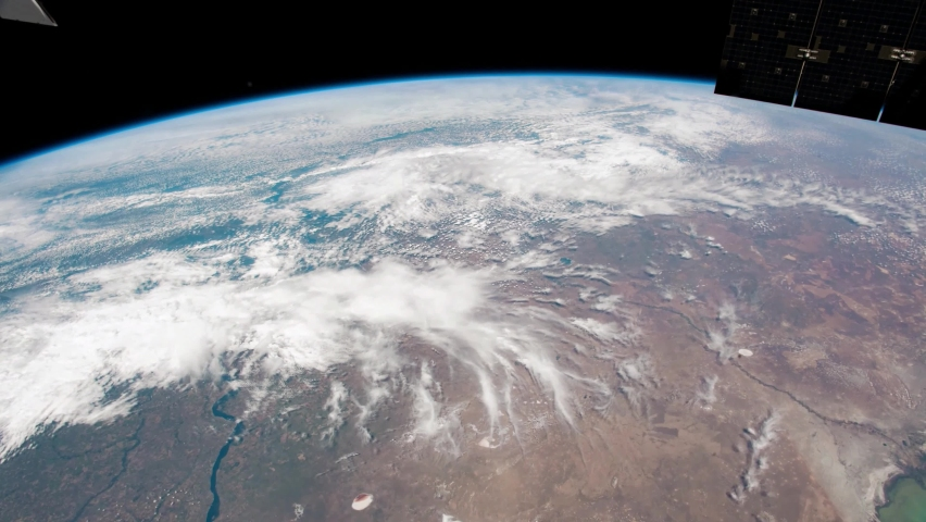 4K time lapse of Earth from Volgograd to Sea of Japan seen from space. Image courtesy of NASA. | Shutterstock HD Video #1059084224