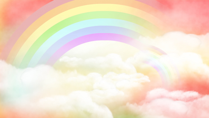 The Background of the Magical Rainbow Cloud Intensified Royalty-Free Stock Footage #1059088412