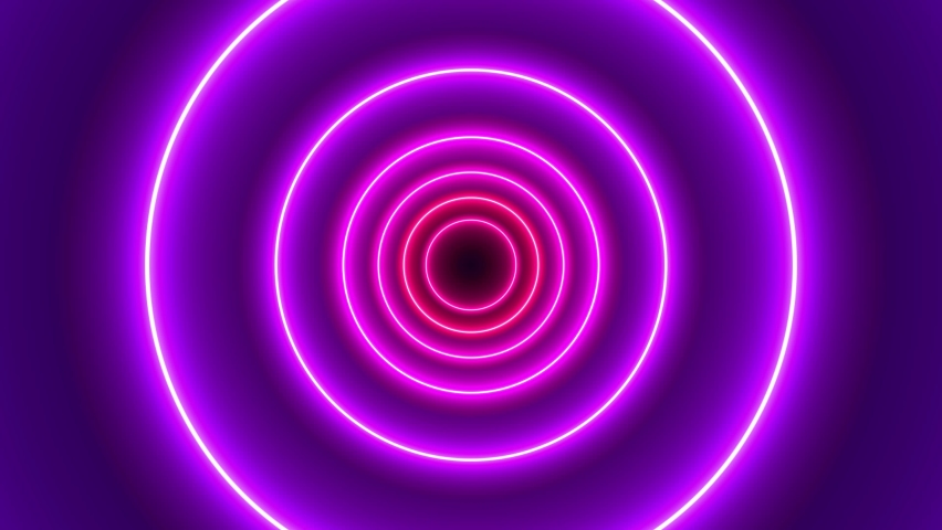 3D Geometric abstract tunnel. Background Futuristic Tunnel-Rainbow Circle | Shutterstock HD Video #1059099932