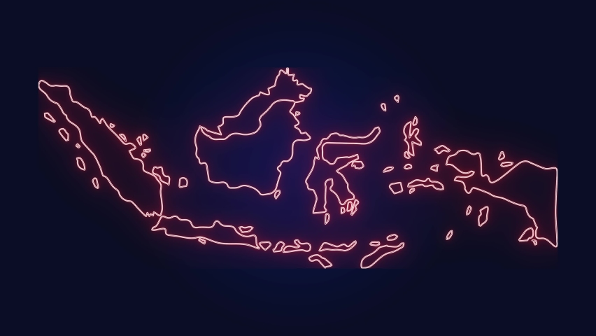Indonesia Map glowing Stock Video Footage  | Shutterstock HD Video #1059116537