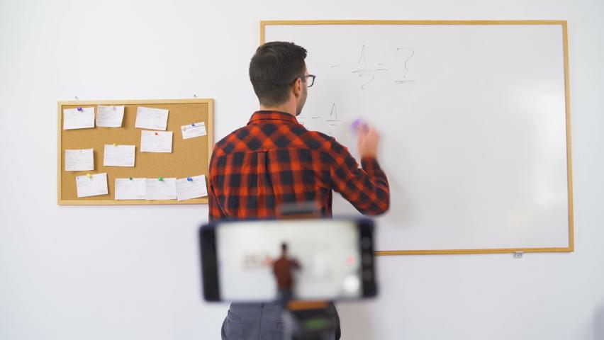 Online teaching platforms mathematics live stream | Shutterstock HD Video #1059152693