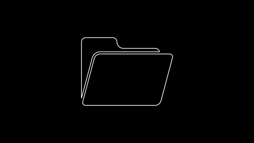 White line Document folder icon isolated on black background. Accounting binder symbol. Bookkeeping management. 4K Video motion graphic animation | Shutterstock HD Video #1059153452