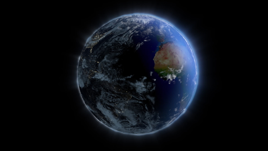 Planet Earth rotating, against black | Shutterstock HD Video #1059153914