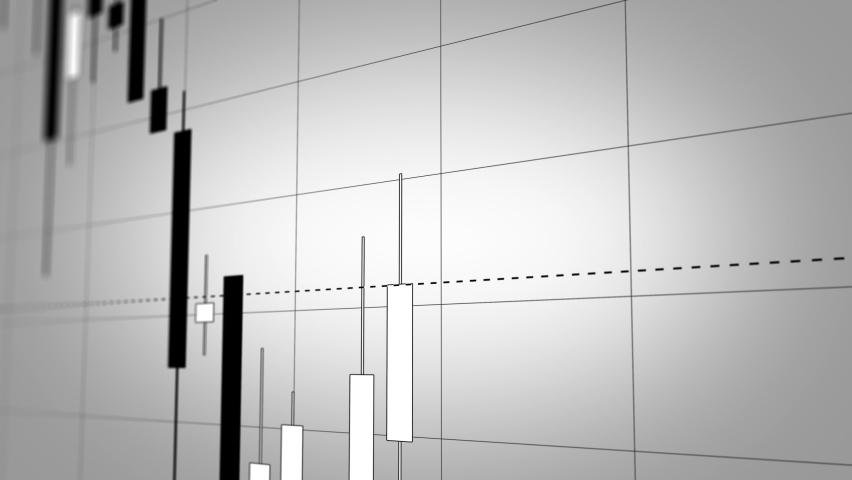 Stock Market Graph, Japanese Candlestick Chart in TimeLapse. Beautiful Seamless Looping 3d Animation, Ultra HD 4K 3840x2160 | Shutterstock HD Video #1059157607