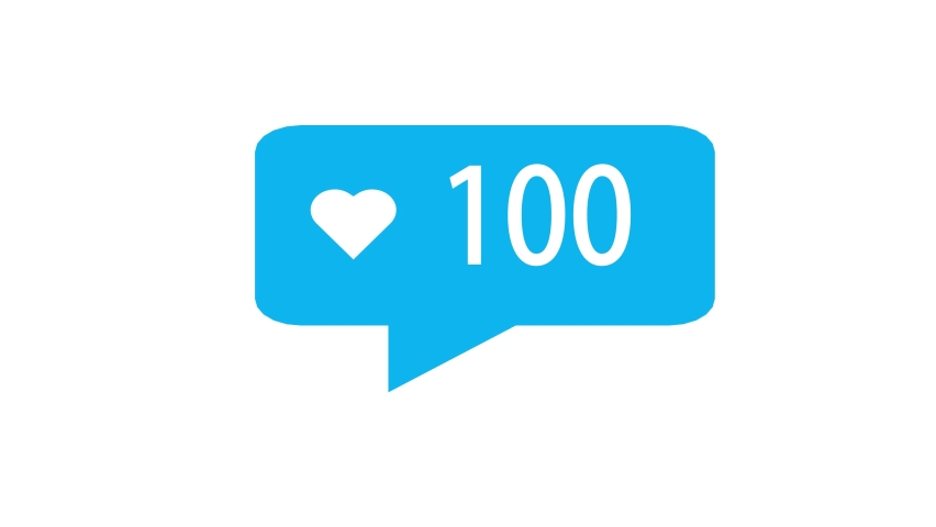 Flat design social media heart button counter going up. | Shutterstock HD Video #1059161846