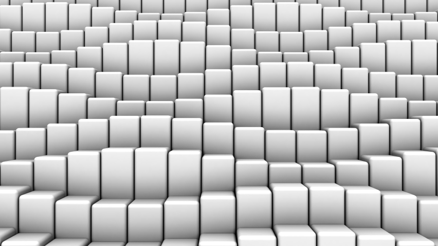 Boxes Form A Wave. Abstract motion, loop, 3d rendering, 4k resolution  | Shutterstock HD Video #1059162785