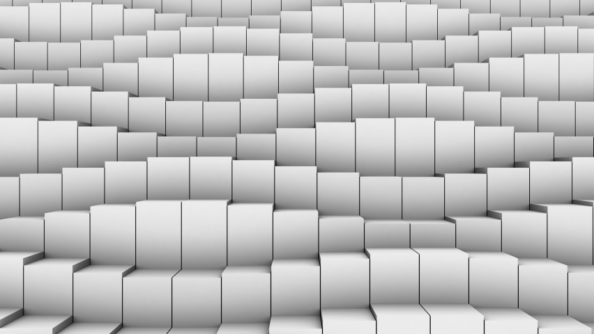 Boxes Form A Wave. Abstract motion, loop, 3d rendering, 4k resolution  | Shutterstock HD Video #1059162788