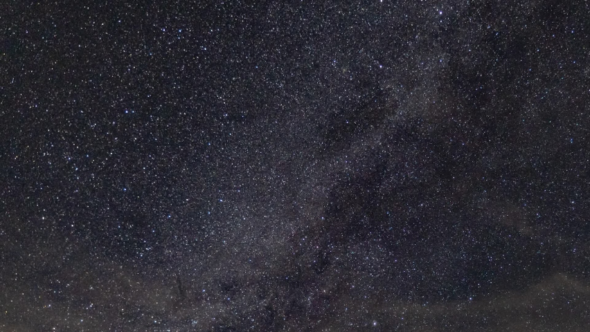Milky Way and star time lapse withing clouds, airplanes on clear night until dusk | Shutterstock HD Video #1059171215