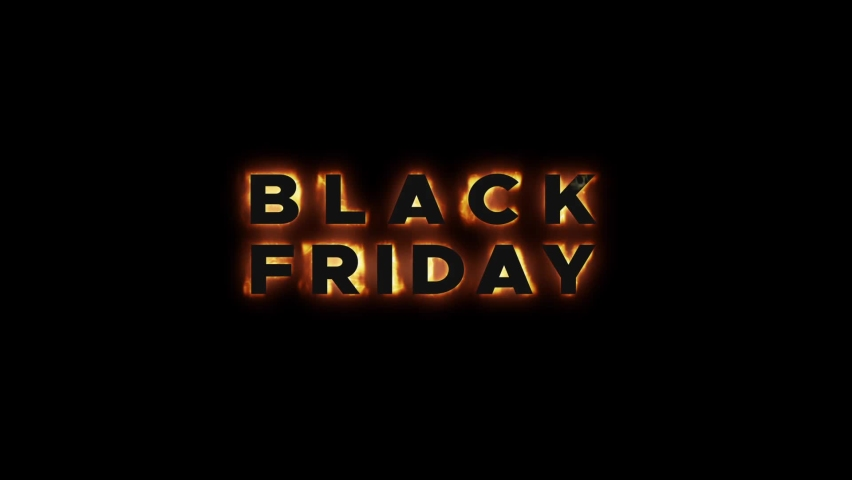 Black Friday on Fire.Black Friday Commercial video.Background for Promo Video.Black Friday Advertisement. Royalty-Free Stock Footage #1059174593