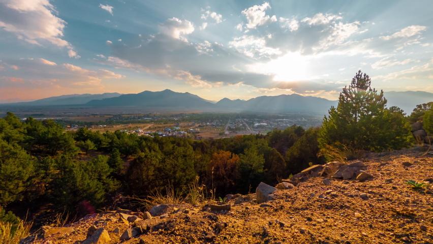 Timelapse of sunset over Buena Vista, Colorado