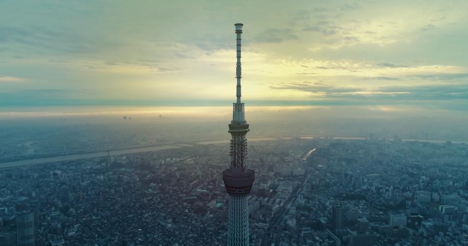 Sunrise of Tokyo cityscape at dawn, Japan   Shutterstock HD Video #1059191501