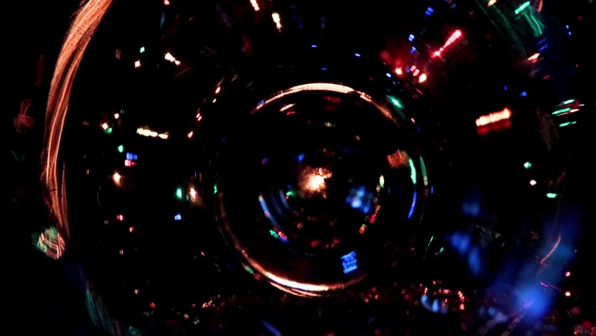 Holiday garland light as a Christmas pine tree decoration | Shutterstock HD Video #1059195566