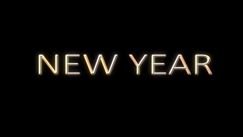 New Year 2021video 4K Text Beautiful Sparkling Fireworks Letters Merry Christmas Beautiful shiny Christmas tree rotating on a gradient black background with snowflakes. Christmas theme | Shutterstock HD Video #1059197048