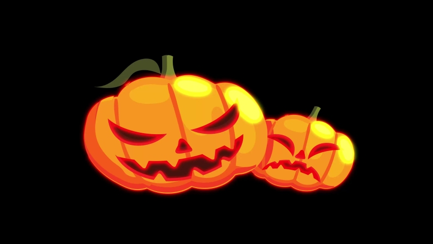 Abstract seamless 4K animation of  neon lines Halloween animation on black background.Animation For The Holiday Halloween Scary pumpkin face at night with moving on dark space. Holiday halloween | Shutterstock HD Video #1059197066