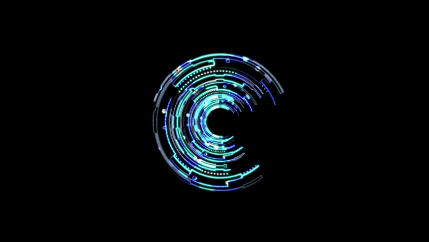 Abstract seamless neon background animation. Video animation of glowing neon abstraction 4K. Stylish seamless hologram.  | Shutterstock HD Video #1059197099