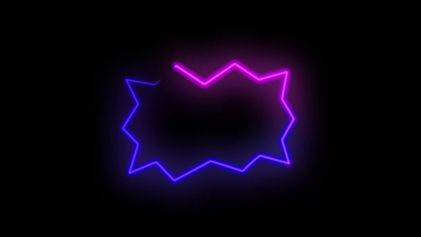 Abstract seamless neon background animation. Video animation of glowing neon abstraction 4K. Stylish seamless hologram.  | Shutterstock HD Video #1059197114