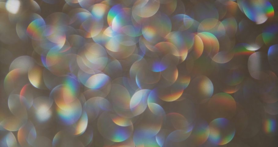 Rainbow colored bokeh abstract background. Filmed with real lens and colored. It's going to be ok rainbow | Shutterstock HD Video #1059197261