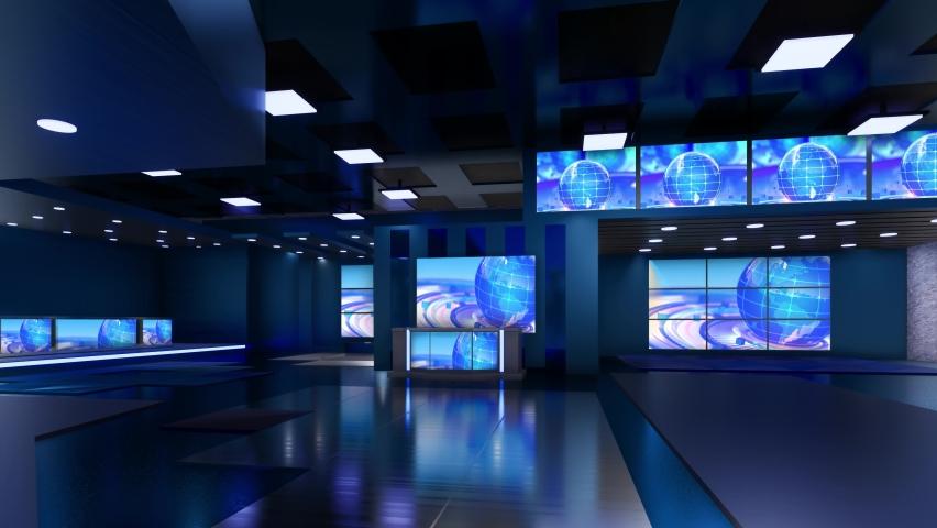 3D Virtual TV Studio News | Shutterstock HD Video #1059204086