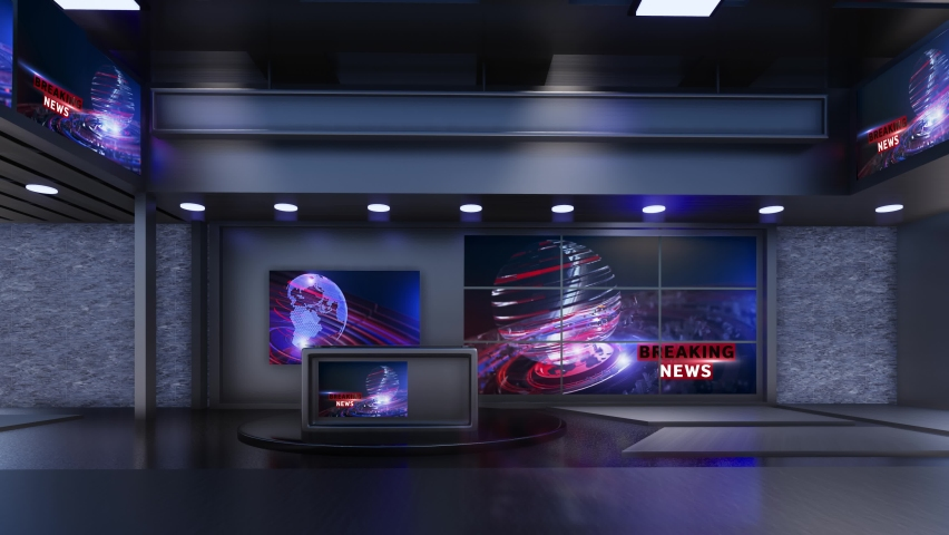3D Virtual TV Studio News | Shutterstock HD Video #1059204089