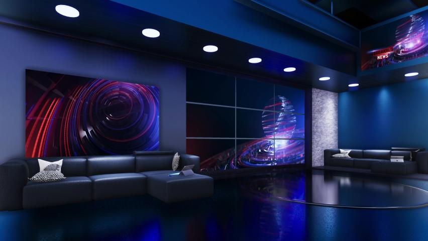 3D Virtual TV Studio News | Shutterstock HD Video #1059204092