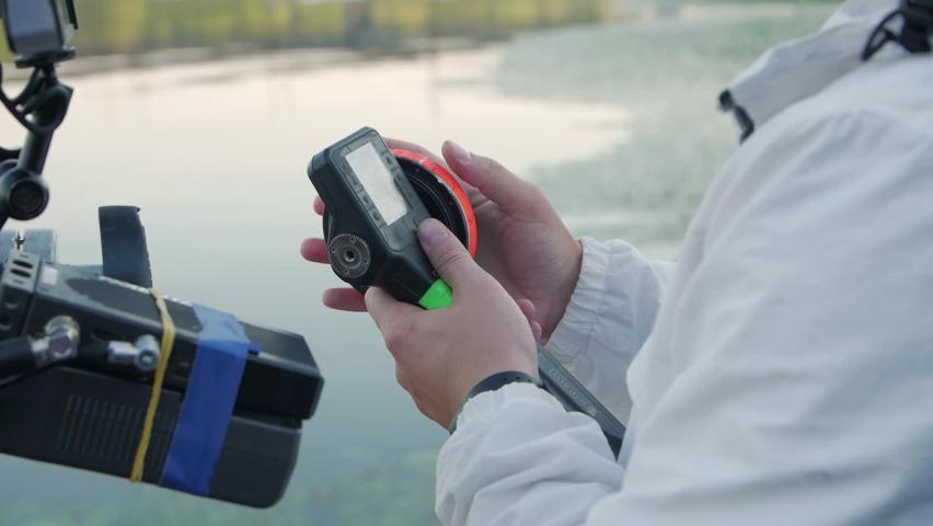 Follow focus camera equipment slow motion closeup | Shutterstock HD Video #1059219068
