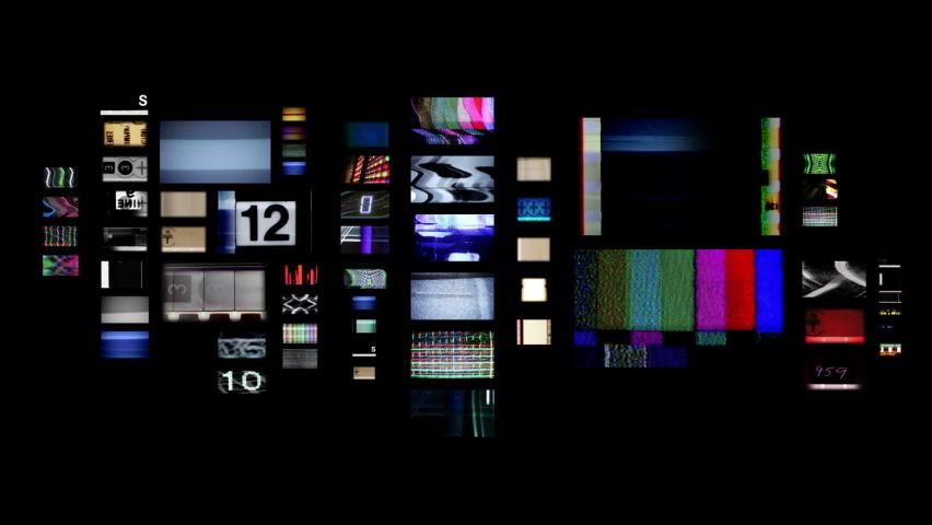 Scratches multi television screens background | Shutterstock HD Video #1059219482