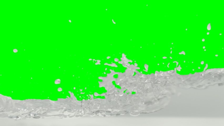 Animated side view of a lot of jet fuel or clear liquid pouring into tank or container and quickly filling up and against green background. | Shutterstock HD Video #1059220931