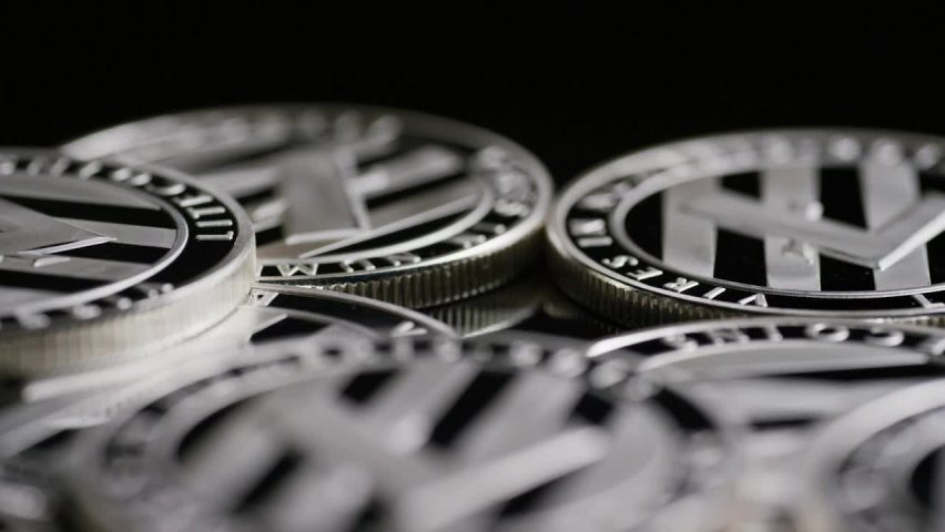 Stack of bitcoins rotating - cryptocurrency (Bitcoins) Financial money Bitcoins. Crypto currency, bitcoin. BTC, Bit Coin. Blockchain technology, bitcoin mining. bitcoin - bitcoin mining bitcoinconcept