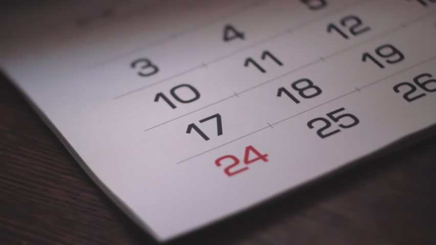 Calendar Pages Flipping. Footage Showing Year Passing By So Fast, And New Days Are Coming Quickly Royalty-Free Stock Footage #1059254963