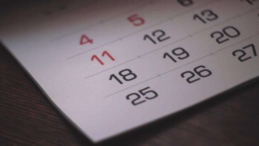 Calendar Pages Flipping. Footage Showing Year Passing By So Fast, And New Days Are Coming Quickly | Shutterstock HD Video #1059254963