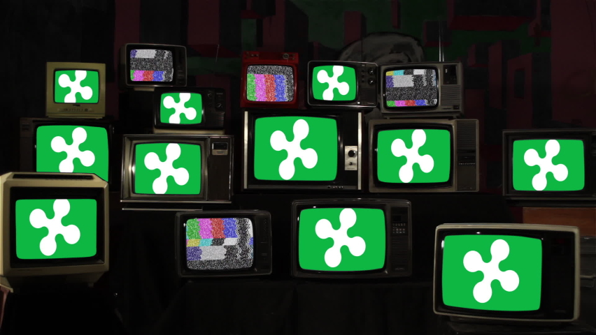 Flag of Lombardy, Italy, and Vintage Televisions. | Shutterstock HD Video #1059255689