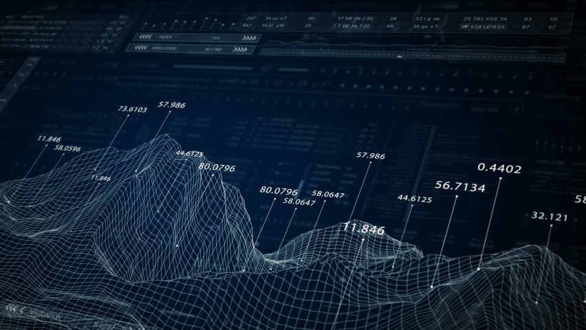 HUD technological topographic background.Sci Fi global connection,network data.Blue | Shutterstock HD Video #1059272996
