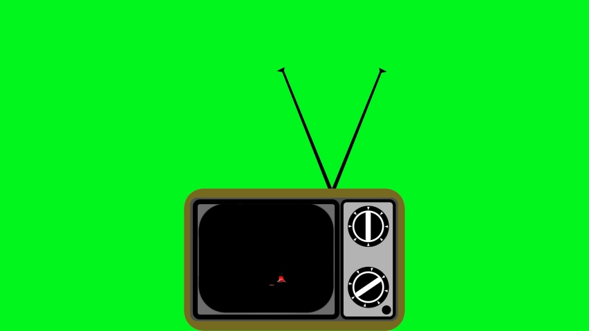 Drawing of a television in a retro style with tv static white noise COUNTDOWN from 10 to 0, final countdown with glitch trrendy vintage numbers. Green background, composition,integration. Flat design. | Shutterstock HD Video #1059292280