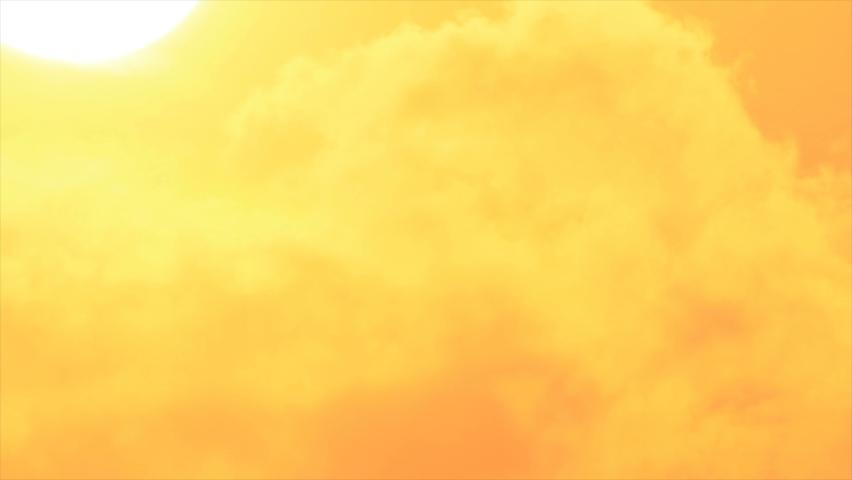 Dazzling white sun sunken in shining fog of horizon in sunset sky | Shutterstock HD Video #1059295382